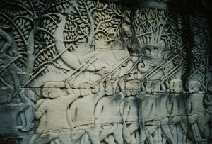 A33 Stone carving at Angkor Wat